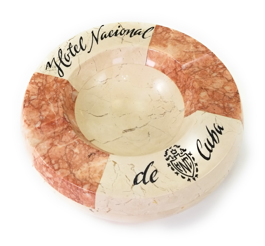 Hotel Nacional De Cuba Marble 2 Tone Collectors Ashtray