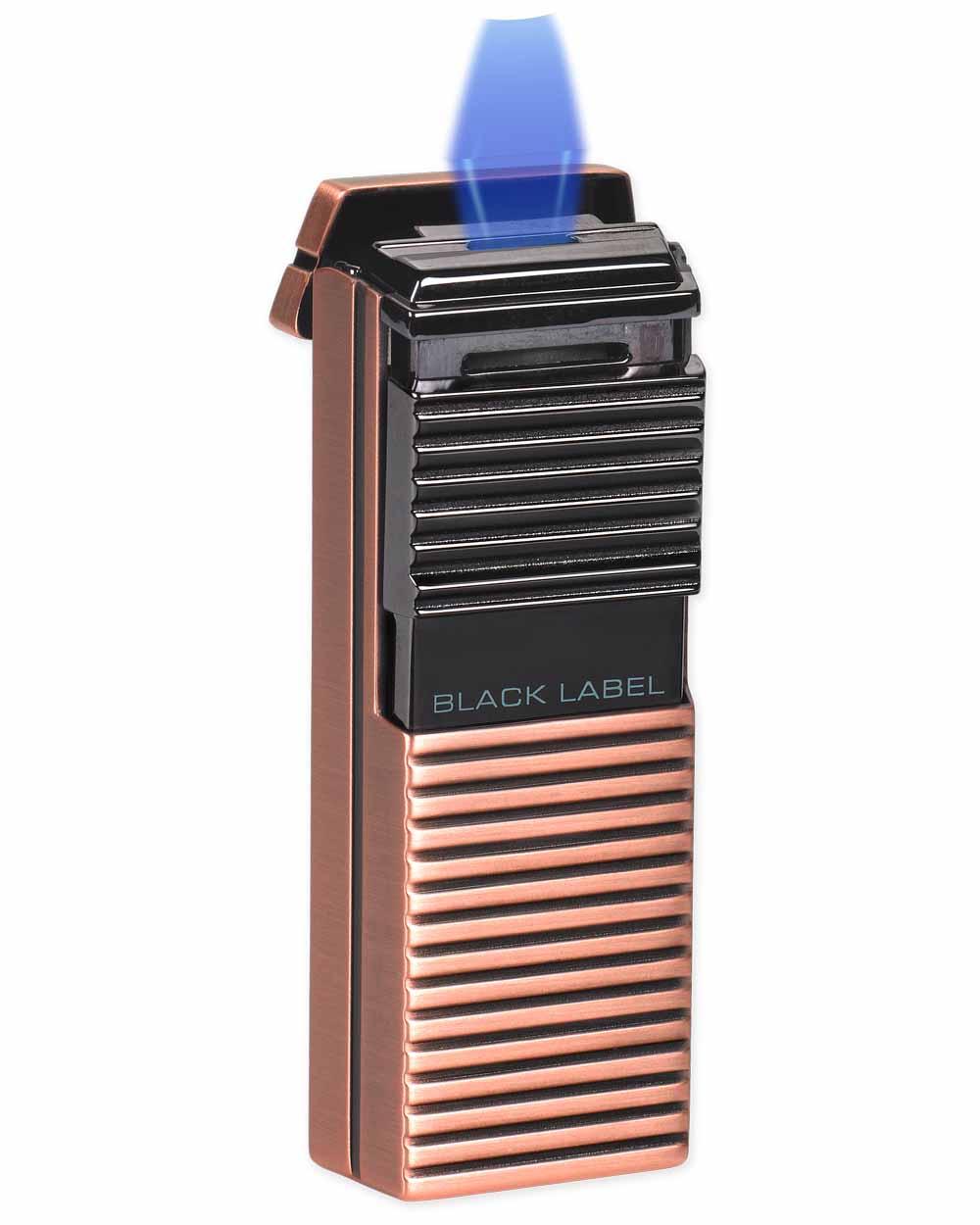 Black Label El Presidente Flat Flame Lighter