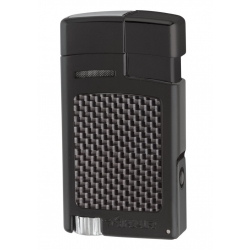 XIKAR Forte Cigar Lighter - Black & Carbon Fiber 523BKCF