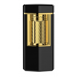 XiKAR Meridian Triple Soft Flame Triple Lighter - Matte Black & Gold