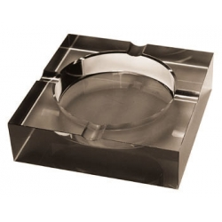 Crystal Ashtray - Opaque Black