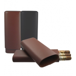 3 Cigar Leather Case - 60 Gauge