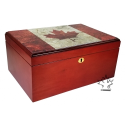 Canada Flag Cigar Humidor - Limited Edition 100