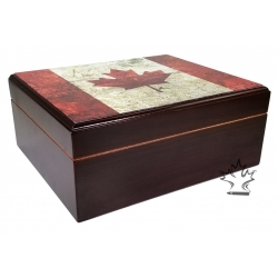 Canada Flag Cigar Humidor - Limited Edition 50