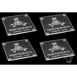 Montecristo Glass Coaster set