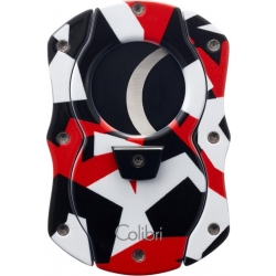 Colibri Cut Camo Cigar Cutter - Red with Black Blades