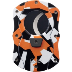 Colibri Cut Camo Cigar Cutter - Orange with Black Blades