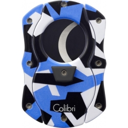 Colibri Cut Camo Cigar Cutter - Blue with Black Blades