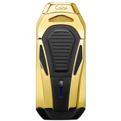 Colibri Boss Cigar Lighter with Guillotine Cutter - Gold Black
