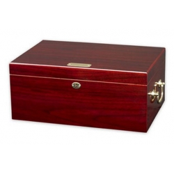 The Tuscany 100 - Dark Cherry Cigar Humidor - Imperfect