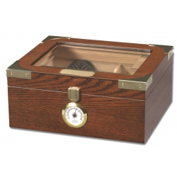 The Capri 25 Humidor - Glasstop in Macintosh Oak