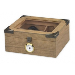 The Newport 25 Cigar Humidor - Glasstop in White Oak