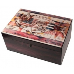 The Tuscany 125 - Dark Cherry Cigar Humidor