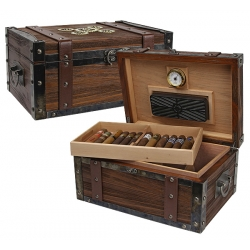 The Steampunk 100 Trunk Cigar Humidor