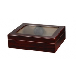 TR20 Glasstop Cigar Humidor - Cherry