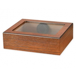 TR20 Glasstop Cigar Humidor - Walnut