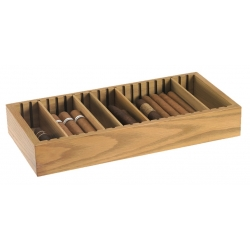 Cigar Humidor Tray - Light Oak