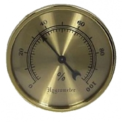 Brass Analog Hygrometer - 2 3/4""