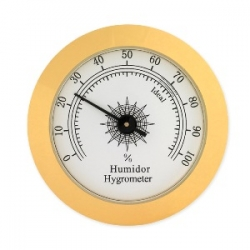 Brass Analog Hygrometer - 2""