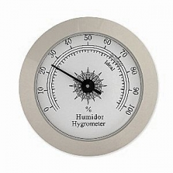 Chrome Analog Hygrometer - 2""