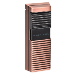 Black Label El Presidente Flat Flame Lighter - Copper & Dark Gun Polish