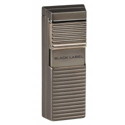 Black Label El Presidente Flat Flame Lighter - Dark Gun Satin